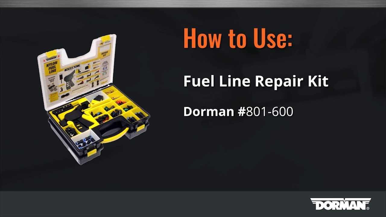 how to use fuel line repair kit video by dorman products