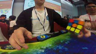 Rubik's Cube One-Handed World Record Average: 10.21 seconds