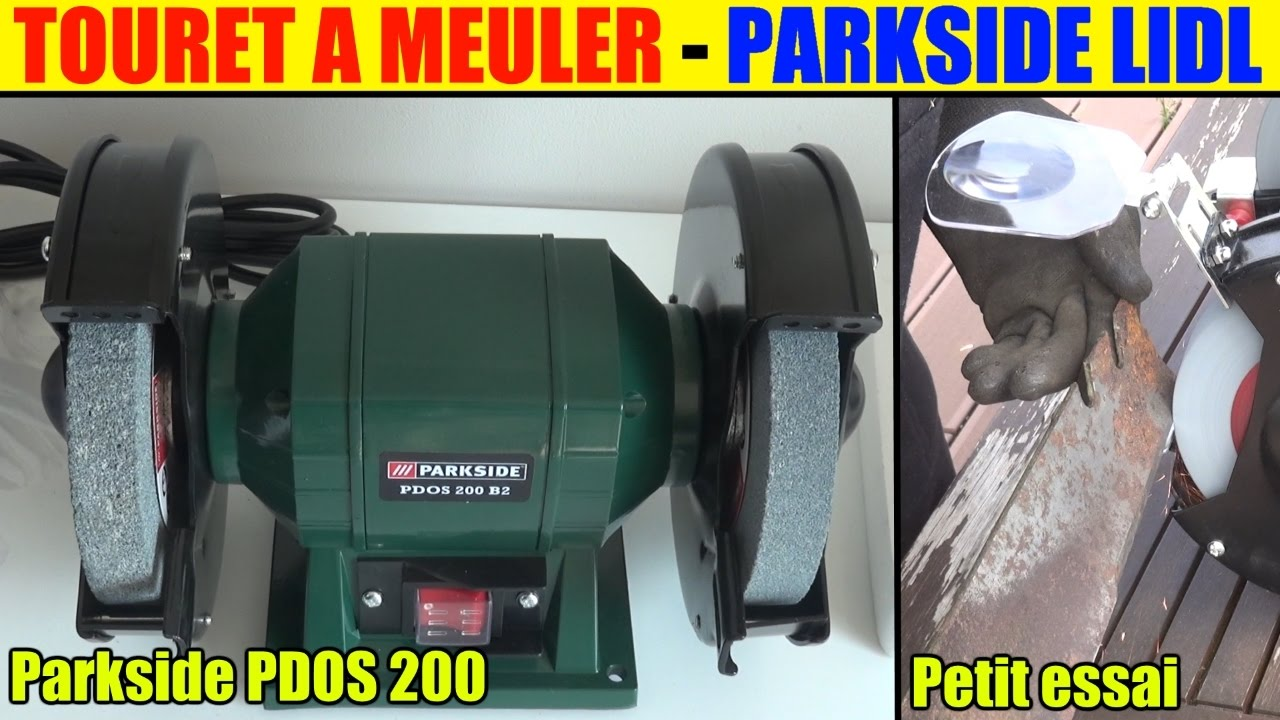 Touret a meuler lidl parkside deballage bench grinder for Smerigliatrice parkside