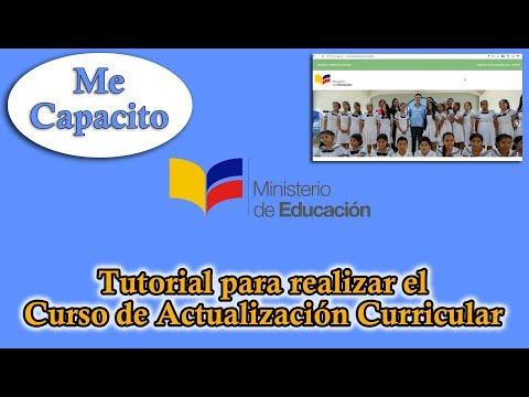 ME CAPACITO Actualización Curricular 2017 | TUTORIAL (Docentes)