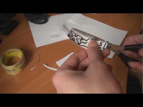 видео: Как сделать наклейку (в домашних условиях)