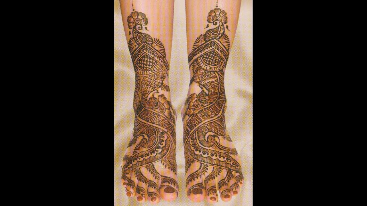 Leg Mehndi Designs Step By Step : Easy simple beautiful mehndi designs for full hands and legs