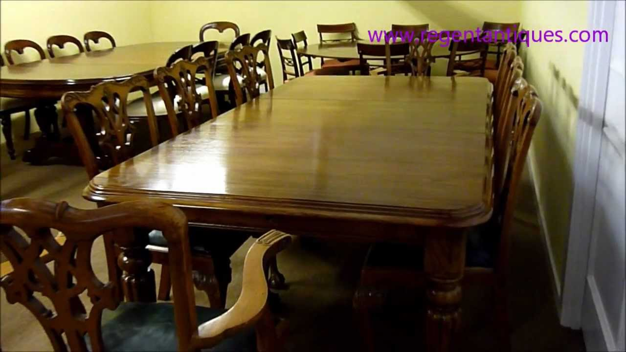 Antique victorian dining chairs - Ra 3240 8ft Antique Victorian Dining Table C1860 8 Chairs Wmv Youtube