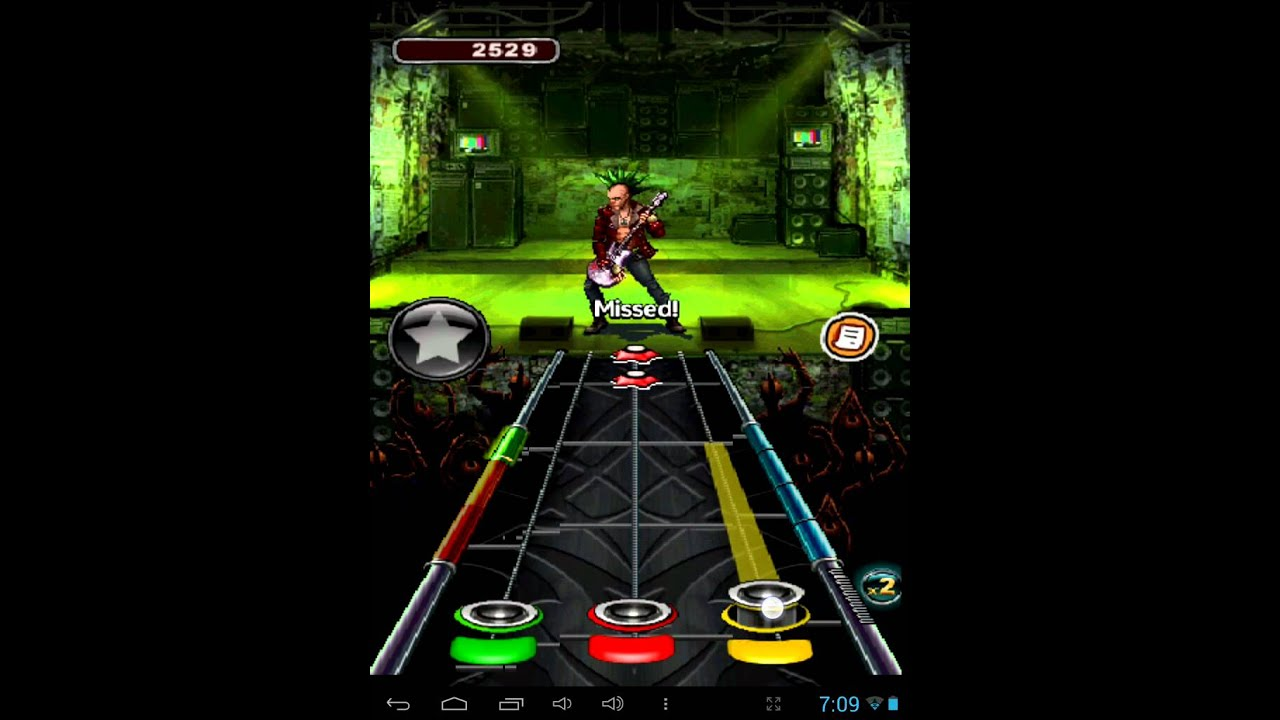 Игра Guitar Hero на телефон android, iphone - YouTube