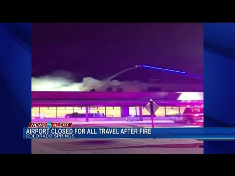Fire on terminal roof closes Colorado Springs Airport