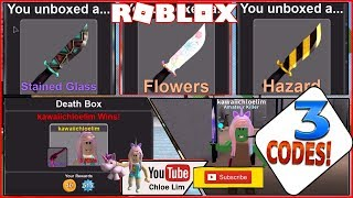 Roblox Murder Simulator Gameplay! 3 Codes and 2 Code Glitches! INFINITE UNIQUE CRATES and KNIVES!
