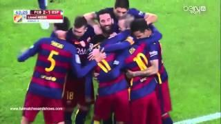 Arda Turan' nın İlk Maçı HD Kalite Geniş Özet Barcelona 4-1 Espanyol