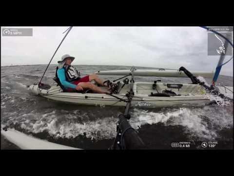 Atlantic Sail - Hobie Tandem Island - Top Mast Cam