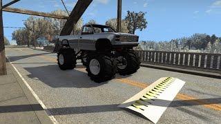 Spike Strip Testing 5 - Crash Sounds - BeamNG.Drive Crashes Compilation