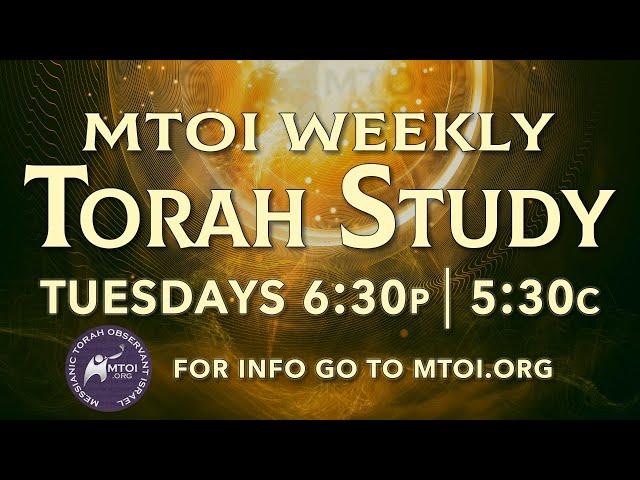 MTOI Weekly Torah Study    Matot/Masei    Numbers 30:2 - 36:13