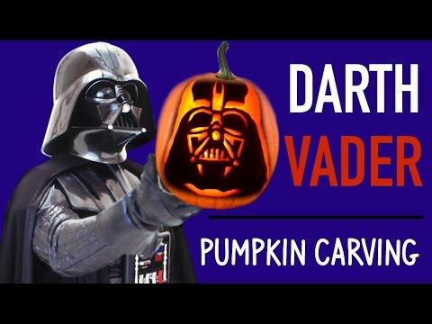 Pumpkin Carving Darth Vader Star Wars Pumpkin Carving Ideas Youtube