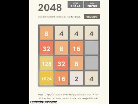 Reaching the 2048 tile again