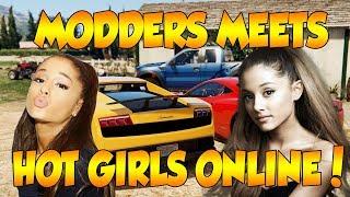 MODDER MEETS HOT GIRLS ONLINE! (GTA 5 FUNNY TROLLING!)
