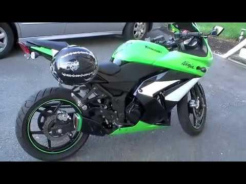 2009 kawasaki ninja 250r special edition GSXR exhaust - YouTube