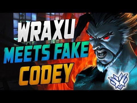 WRAXU PRO HANZO MEETS FAKE CODEY! [ OVERWATCH SEASON 9 TOP 500 ]