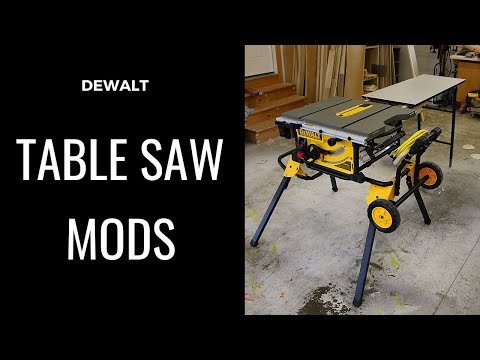 Efficiency Modifications I Made to DEWALT DWE7491RS Table Saw and Rousseau Outfeed Table