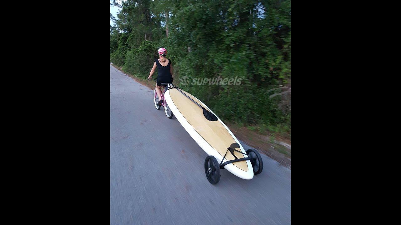 Trailer Walk Boards : Sup wheels bike board trailer youtube