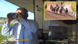 2019 Belmont Stakes: Watch Larry Collmus call Sir Winston's unexpected win | NBC Sports