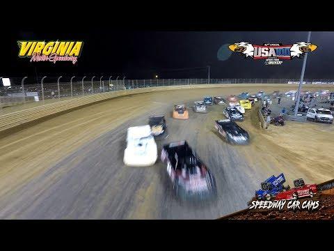 USA100 Winner - #43A Tyler Bare - Super Late Model - 6-16-18 Virginia Motor Speedway - In Car Camera