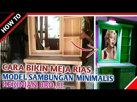 Cara bikin Meja rias minimalis modern   vanity mirror   Meja rias kayu kekinian
