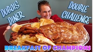 DUBOIS DINER DOUBLE BREAKFAST CHALLENGE  BREAKFAST OF CHAMPIONS  MY FAVORITE MEAL OF THE DAY ❤
