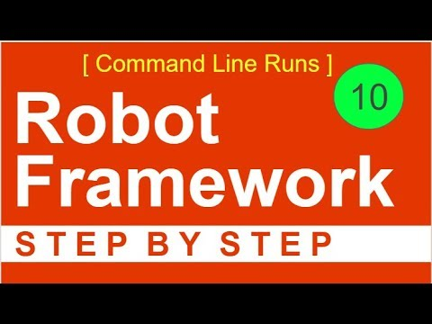 Robot Framework Beginner Tutorial 10 - How to run Tests from Command Line