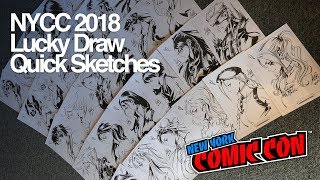 NYCC 2018 Quick Sketches