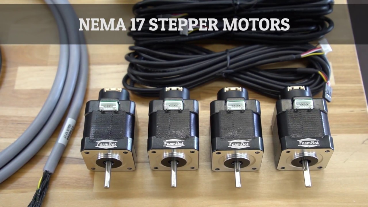 nema 17 stepper motors and rotary encoders farmbot