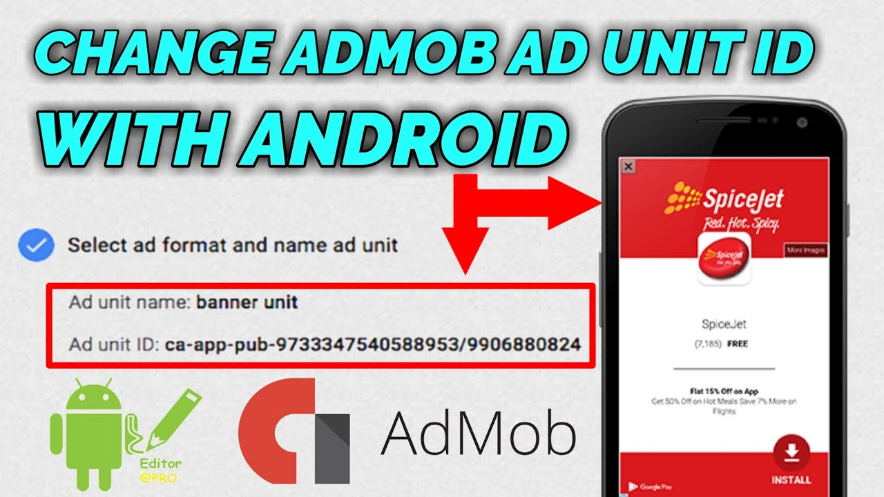 How to Change ADMOB AD UNIT ID Of any Android applications With Android APK  Editor pro [Bangla]
