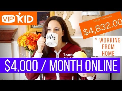 🍎 VIPKID: HOW TO MAKE $4,000/ MONTH ONLINE // How To Make Money Working From Home