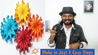 DIY Christmas Tree Ornaments/How to make 3D Paper Snowflakes   Remo Art  