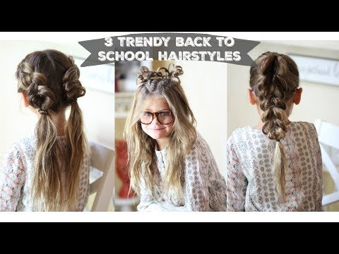 3 Quick and Trendy Back To School Hairstyles ▶5:27