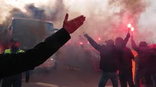 AIK:s spelarbussmottagning 2018 (AIK - Dalkurd 2-0)