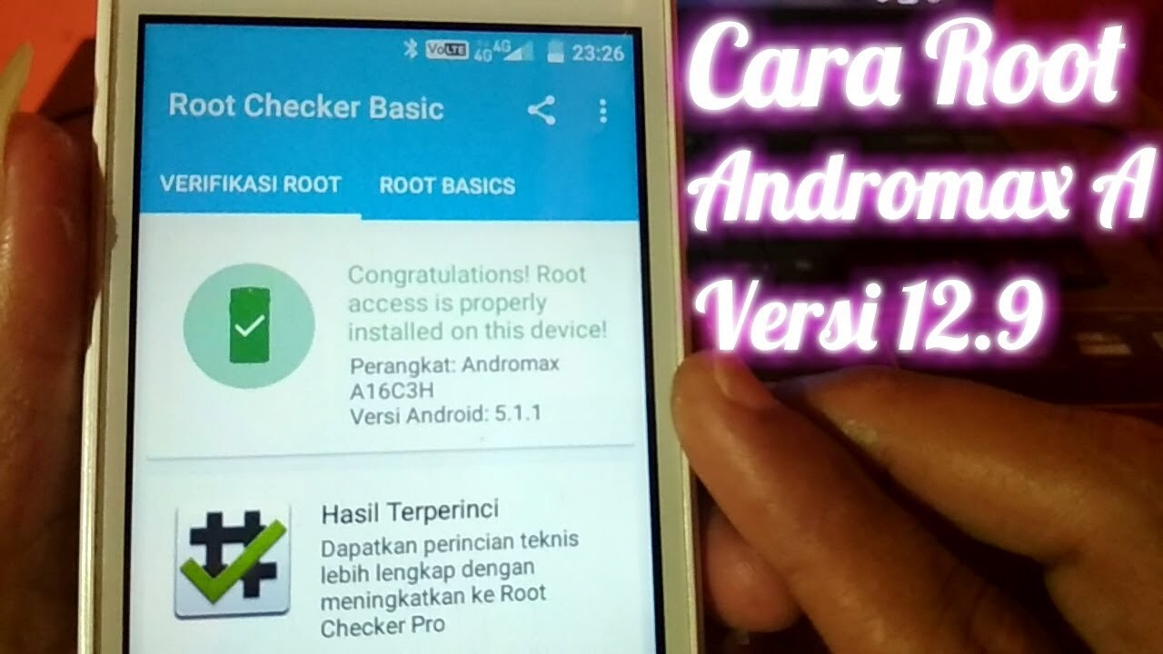 Cara Root Andromax A A16c3h V 12 9 Work 100 Youtube