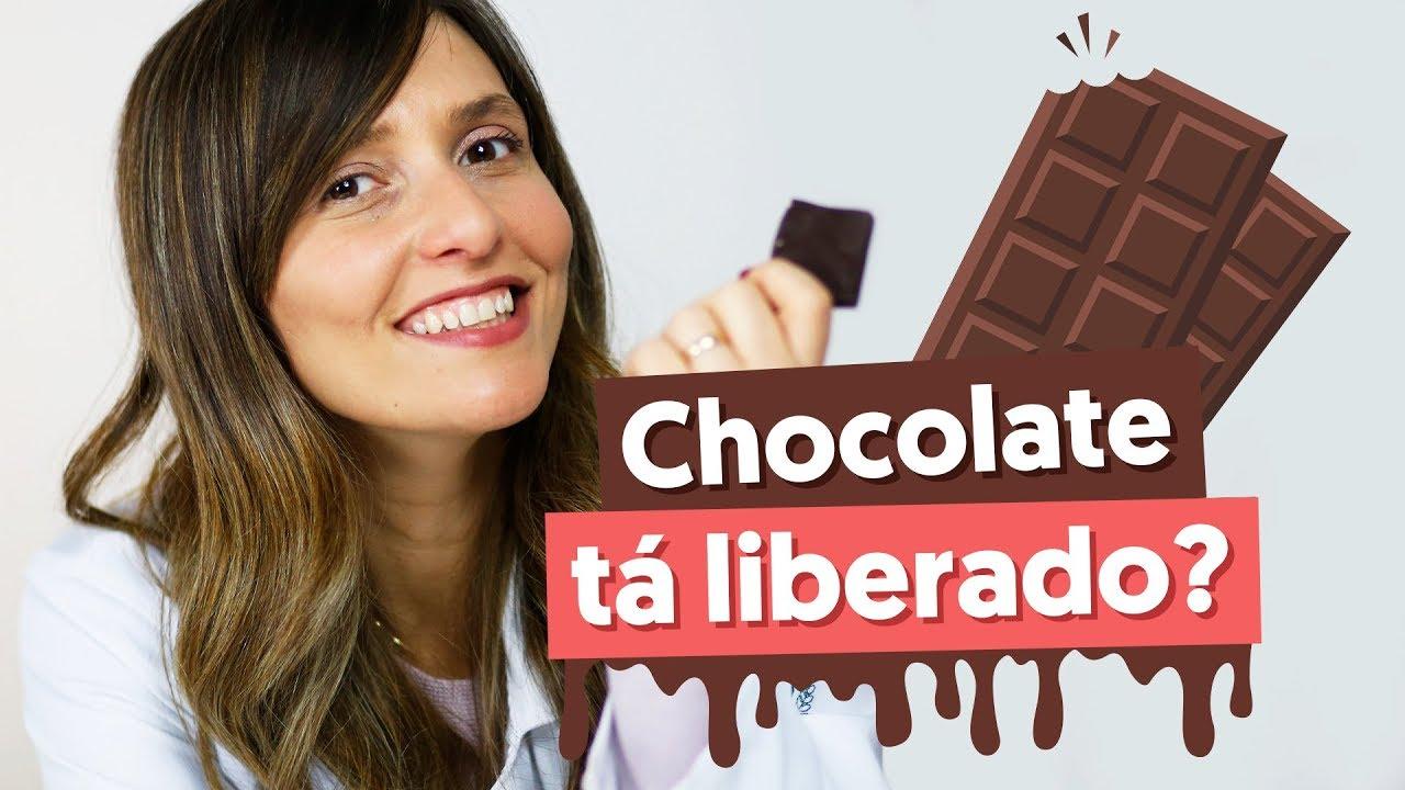 chocolate meio amargo na dieta pode