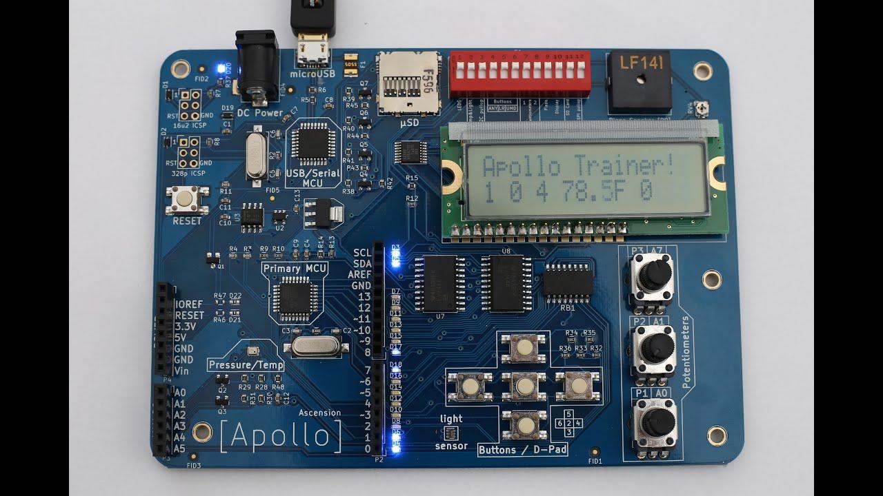 Apollo trainer an arduino uno compatable board