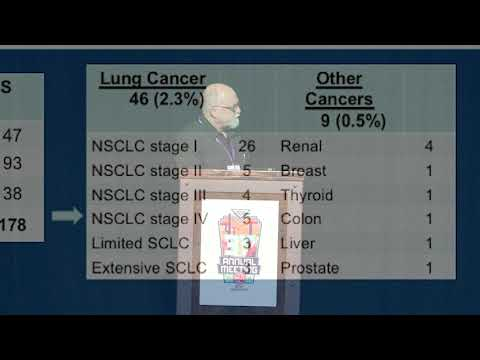 Results of Low Dose CT lung Cancer Screening – Dr. John Handy