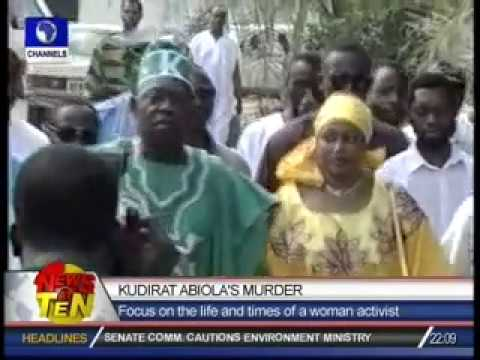 Kudirat Abiola's Murder:Focus on the life and times of a woman activist