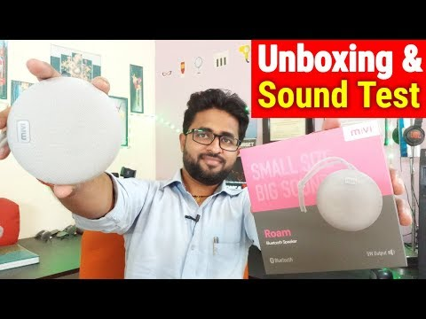 MIVI ROAM : Unboxing, Sound Test, Review & first look of MIVI ROAM portable bluetooth Speaker