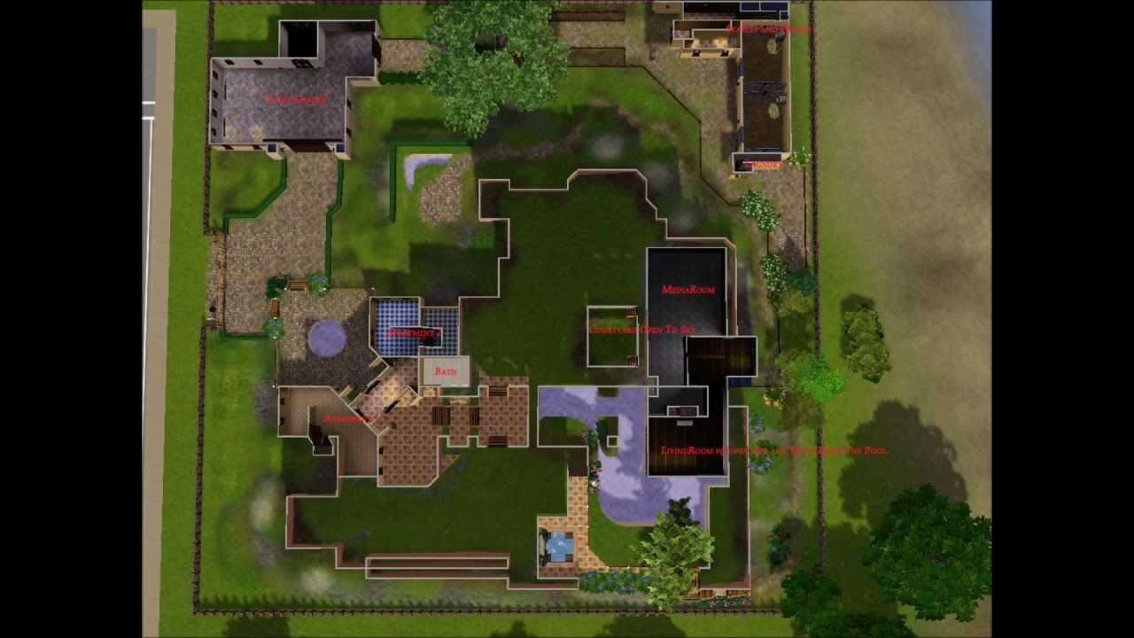 Sims3 241211 Mansion For Awesims Queenstown 64x64 Youtube