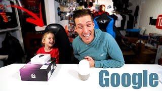 Celina & TuTo REAGIEREN auf lustige BEFEHLE von Google Assistant