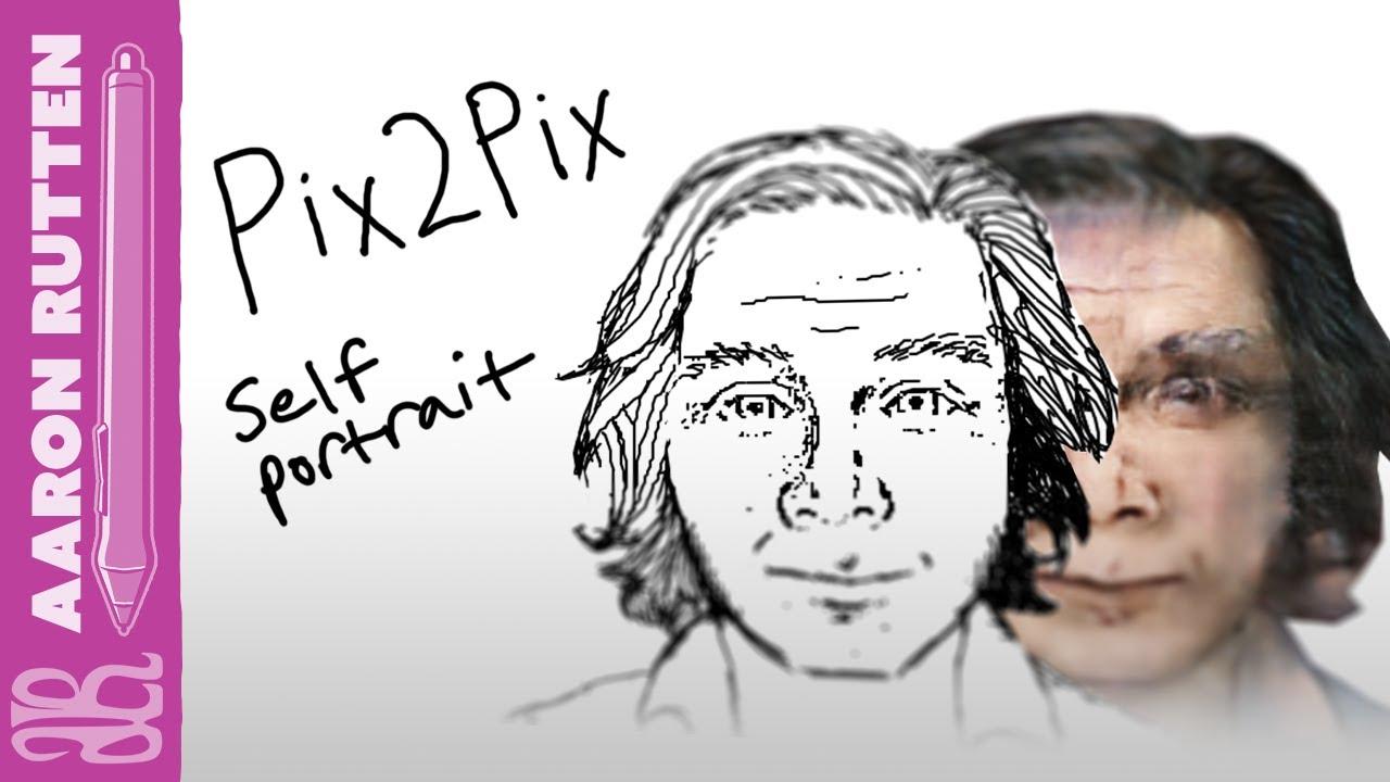 Pix2Pix Self-Portrait Challenge with a Wacom Cintiq 27 QHD