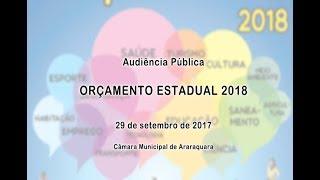 Audiência Pública - Orçamento Estadual 2018