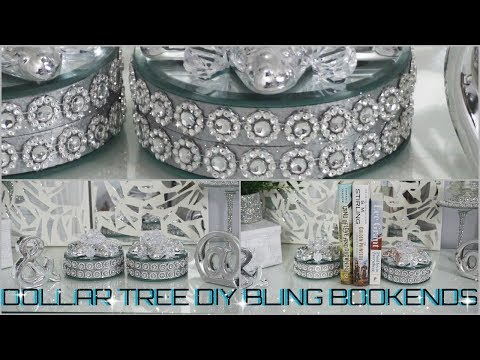 DIY DOLLAR TREE  GLAM BOOKENDS DECOR  EASY INEXPENSIVE DECOR IDEA 2018  PETALISBLESS