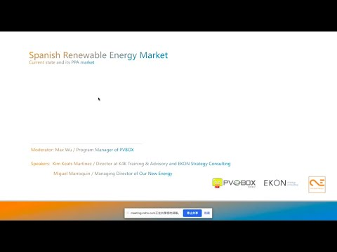 PVBOX Webinar: The Spanish Renewable Energy Current State And PPA Market.