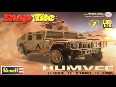 HUMVEE 1:25 Scale Revell #85-1970   -Model Kit Build & Review