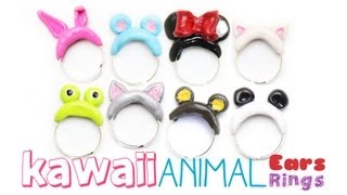 Kawaii Animal Ears Rings - DIY - Polymer Clay Jewelry Tutorial Thumbnail