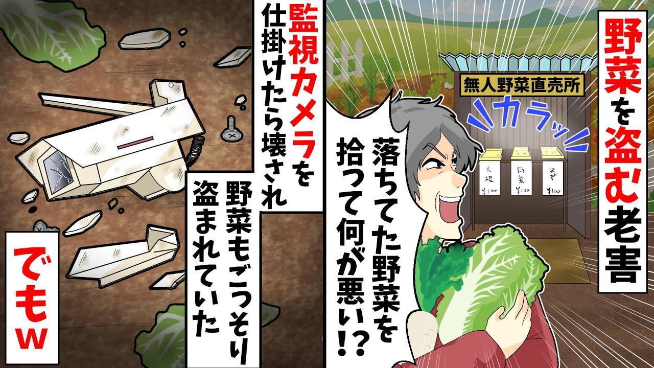 無人野菜直売所から野菜を盗む老害「落ちてた野菜を拾って何が悪い!?」→防犯カメラを仕掛けたら壊されたがww