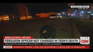 Repeat youtube video CNN Reporter Sara Sidner Hit with Rock During Ferguson Protests