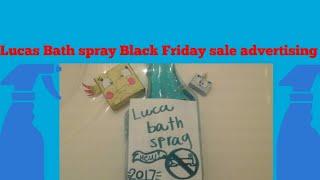 Lucas bath spray Black Friday sale advertising